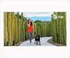 Foto de Chica con perro (Imán mueble Short 139 x 76.5 cm)