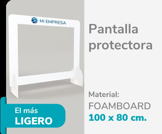 Foto de Pantalla Protectora Foamboard 10mm 100x80 | Impresión de logo