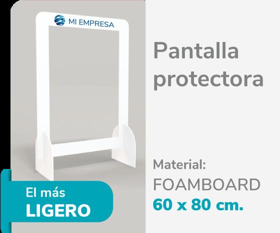 Foto de Pantalla Protectora Foamboard 10mm 60x80 | Impresión de logo