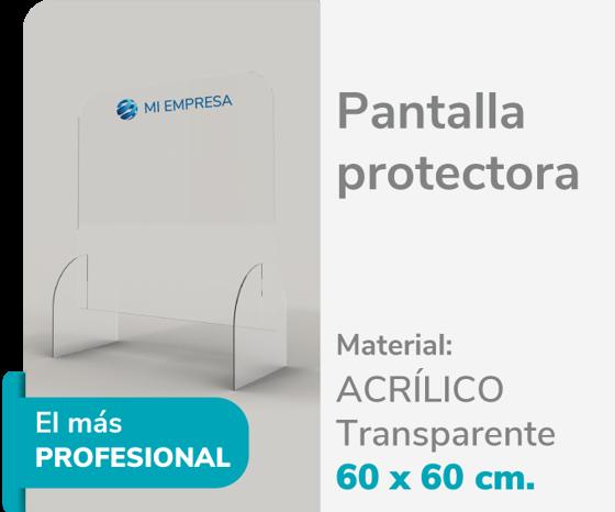 Foto de Pantalla Protectora Acrílico 3mm 60x60 | Impresión de logo