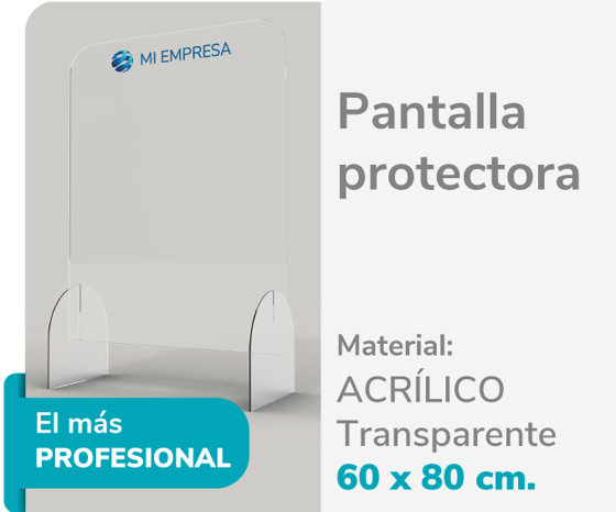Foto de Pantalla Protectora Acrílico 3mm 60x80 | Impresión de logo