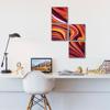 Foto de Set de Cuadros magic frame | Arte rojo