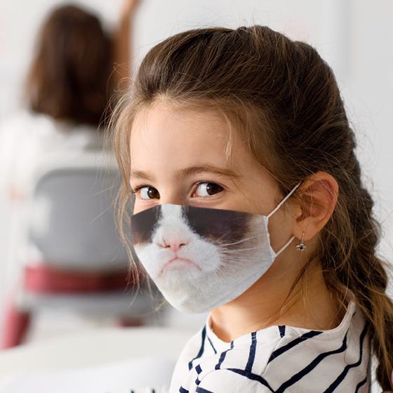 Picture of Cubrebocas Kids Lavable | Gato 3