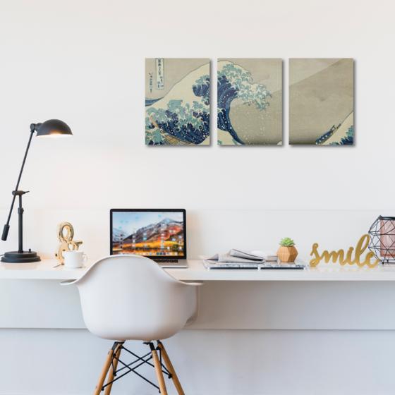 Picture of Set de cuadros acrílico | Ola de Kanagawa