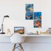 Foto de Set de cuadros acrílico | Arte azul