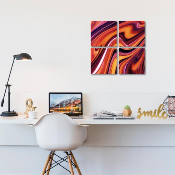 Foto de Set de cuadros acrílico | Arte rojo