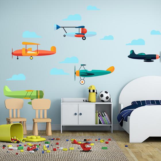Foto de Vinil decorativo infantil | Aviones
