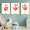 Picture of Set de Cuadros canvas | Flamingos