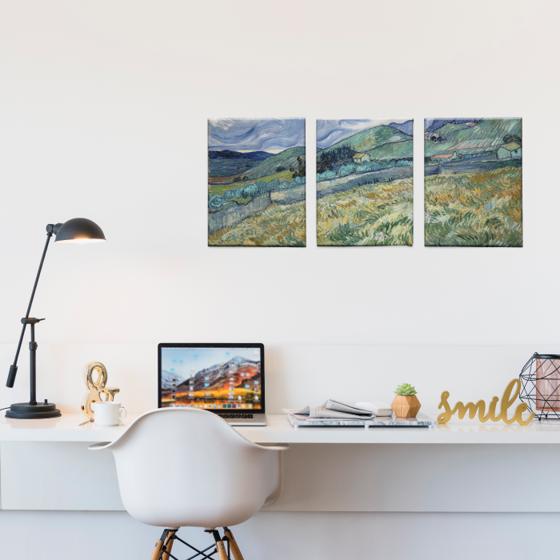 Foto de Set de Cuadros canvas | Campo Van Gogh