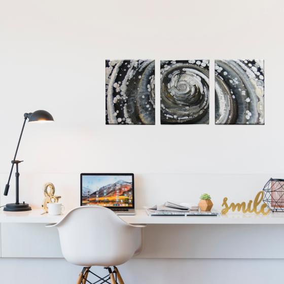 Picture of Set de Cuadros canvas | Arte BN esprial