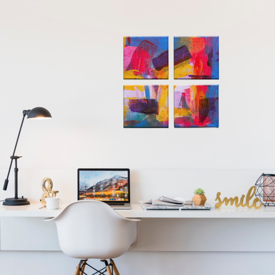 Foto de Set de Cuadros canvas   Arte colores