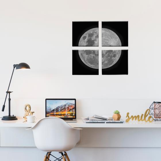 Foto de Set de Cuadros canvas | Luna