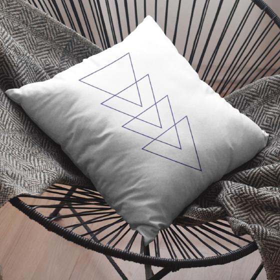 Foto de Cojín | Triángulos abstractos