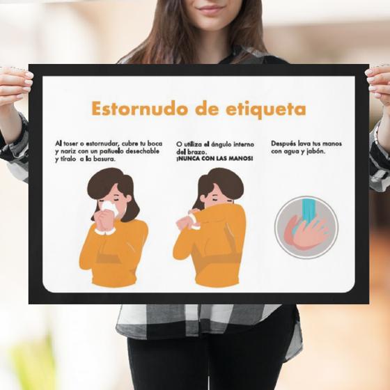 Picture of Póster de recomendaciones | Estornudo