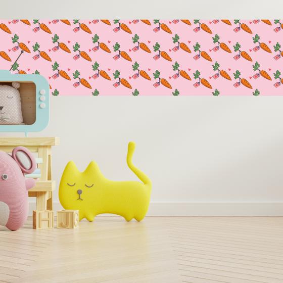 Foto de Cenefa Decorativa Kids | Zanahorias