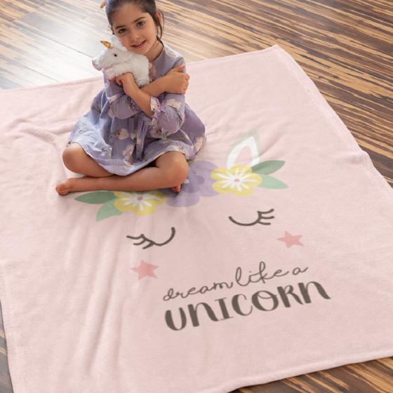 Picture of Cobija personalizada | Unicornio