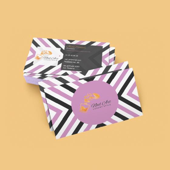 Picture of Tarjetas de presentación | Personalizable Diseño moderno chevron