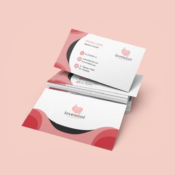 Foto de Tarjetas de presentación | Personalizable Diseño curvas conservador
