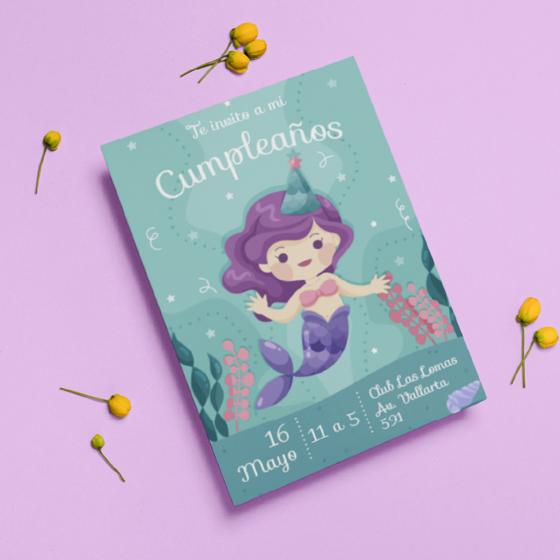 Picture of Invitación personalizada | Sirena