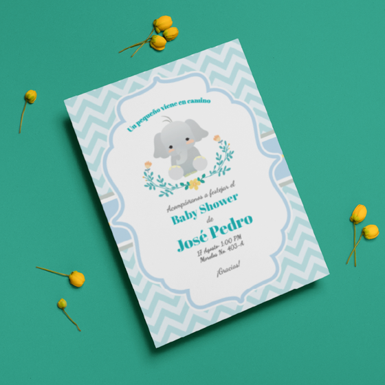 Picture of Invitación personalizada | Cute Elefant