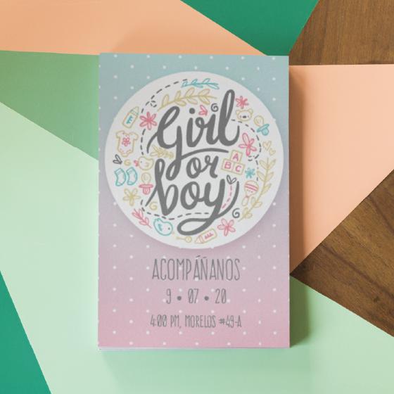 Foto de Invitación personalizada | Gender reveal