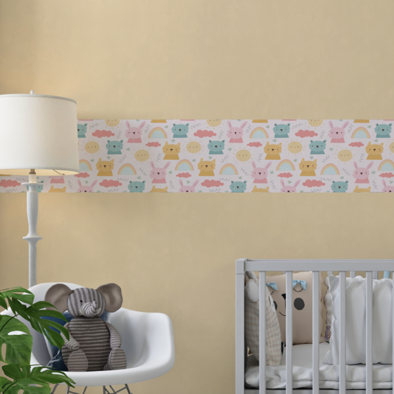 Picture of Cenefa Decorativa Kids | Conejos & Arcoiris